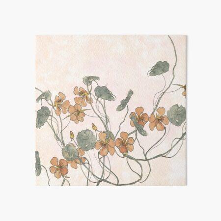 Winding - floral watercolour Art Board Print