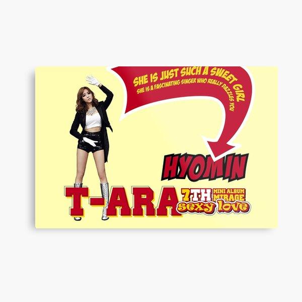 T-ara  Hyomin poster Metal Print