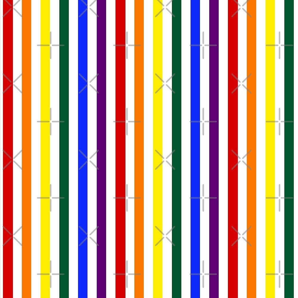 Wide Pride Vertical Stripes by technoqueer