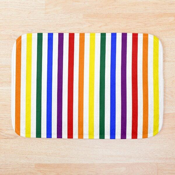 Wide Pride Vertical Stripes Bath Mat