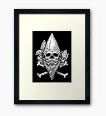 Gnome Skull Framed Print