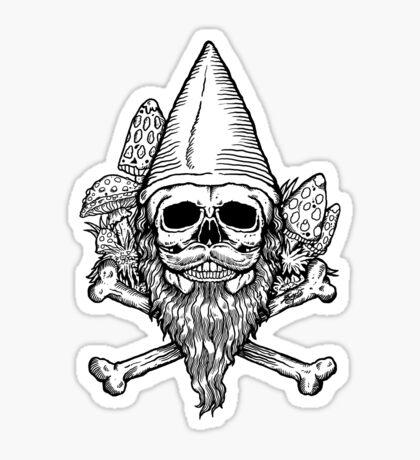 Gnome Skull Sticker