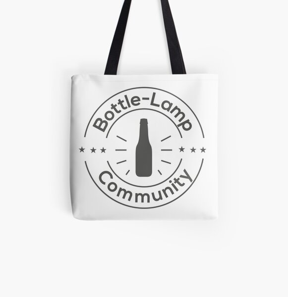 Bottle Lamp Community All Over Print Tote Bag