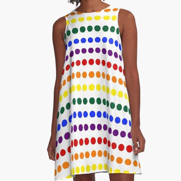 Pride Dots A-Line Dress