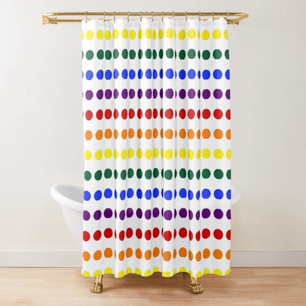 Pride Dots Shower Curtain