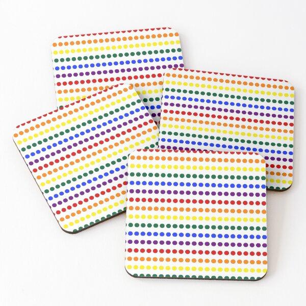 Pride Dots Coasters (Set of 4)