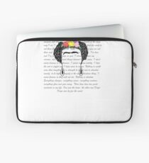 Personalised Frida Kahlo and quotes. Laptop Sleeve