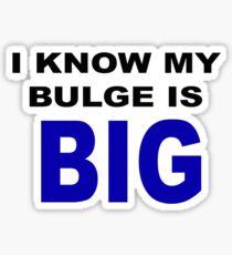 I know my bulge is big Sticker