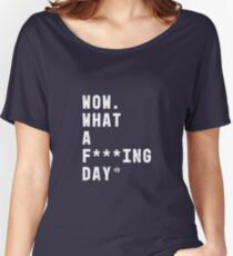 Casefile True Crime – What a F***ing Day (Light) Relaxed Fit T-Shirt