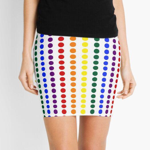 Vertical Pride Dots Mini Skirt