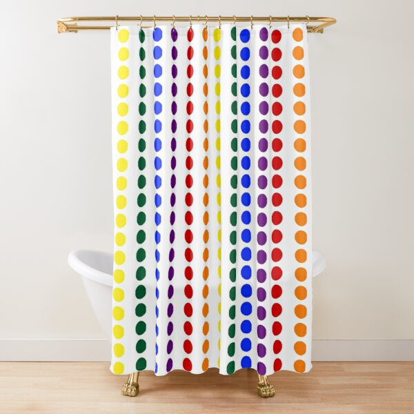 Vertical Pride Dots Shower Curtain