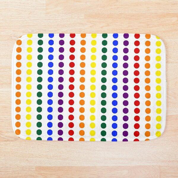 Vertical Pride Dots Bath Mat