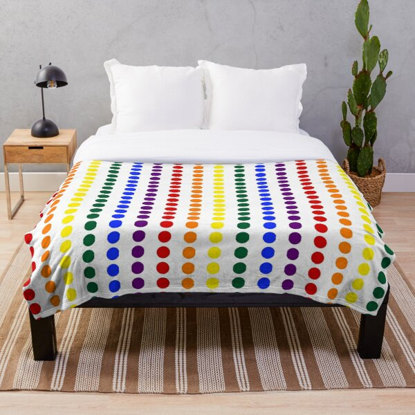 Vertical Pride Dots Throw Blanket