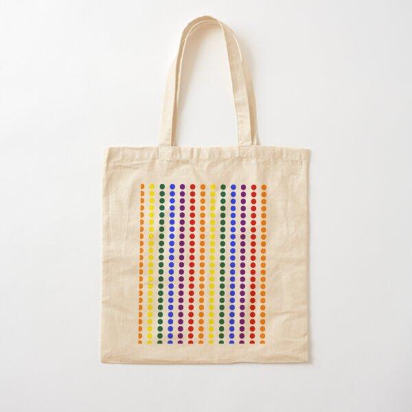 Vertical Pride Dots Cotton Tote Bag