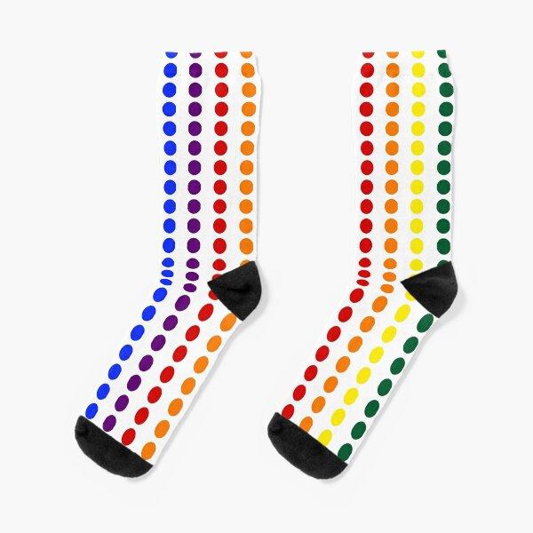 Vertical Pride Dots Socks