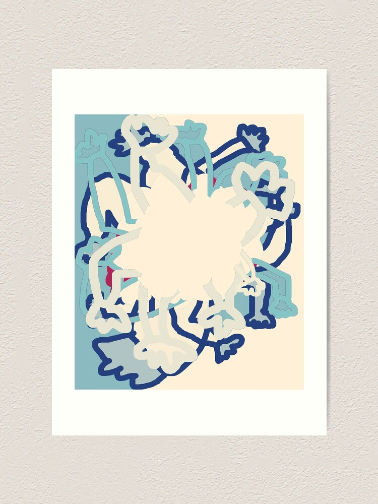 Alternate view of Digital Abstract Illustration, Rowdy Collection Designs Art Print