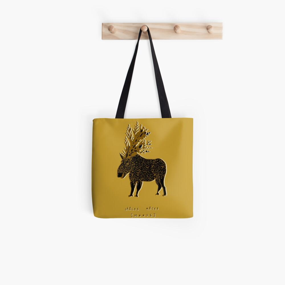 Golden Moose Alces Alces Tote Bag