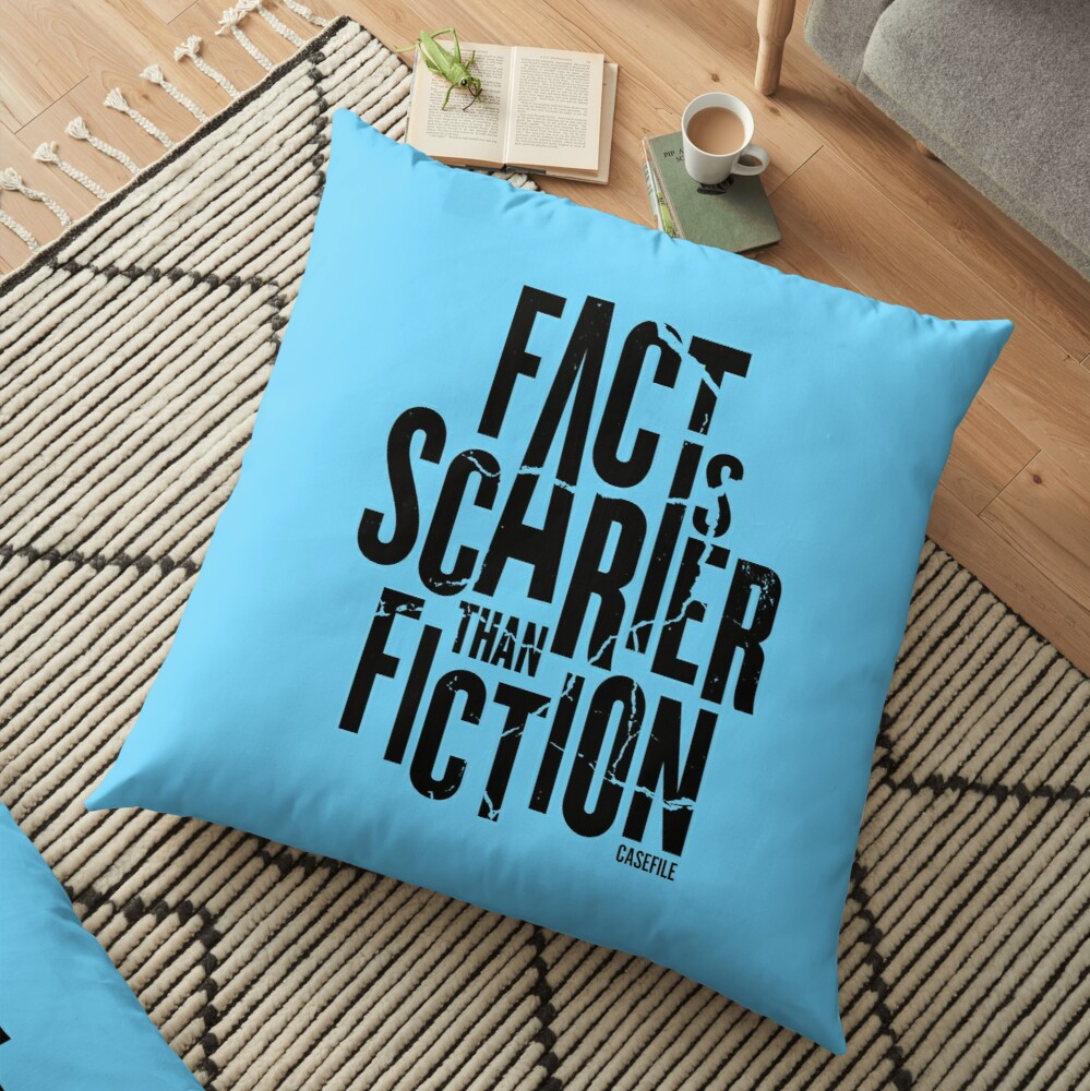 Casefile True Crime – Fact Is Scarier Than Fiction (Dark) Floor Pillow
