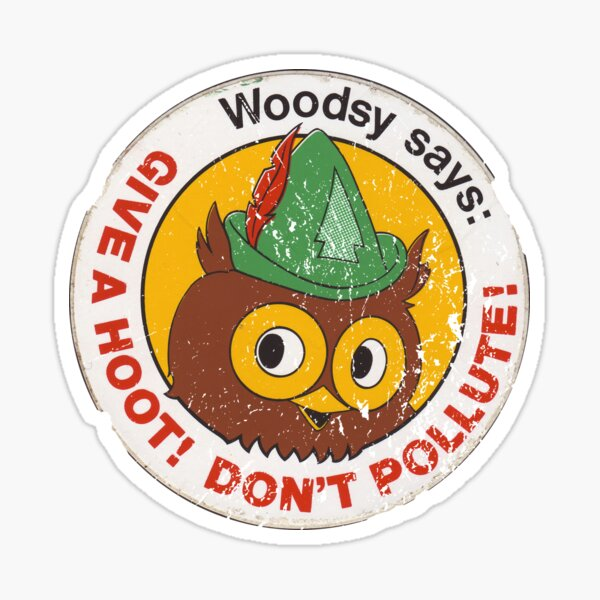 Woodsy Owl: Don't Pollute! Sticker