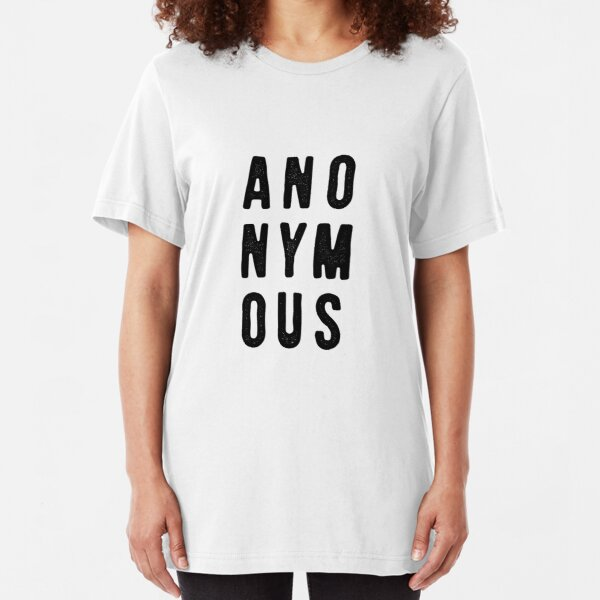 Casefile True Crime – Anonymous (Dark) Slim Fit T-Shirt