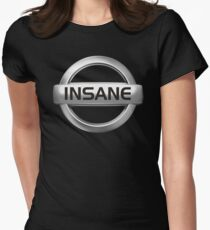 Insane Nissan Badge - JDM Decal Womens Fitted T-Shirt