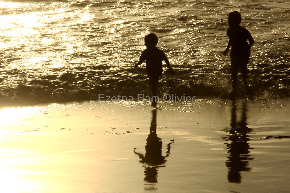 Boys on the beach - Stransfontein South Africa by Ezetna Bam Olivier