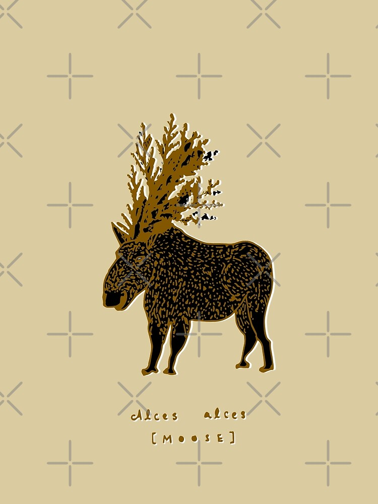 Golden Moose Alces Alces by whya