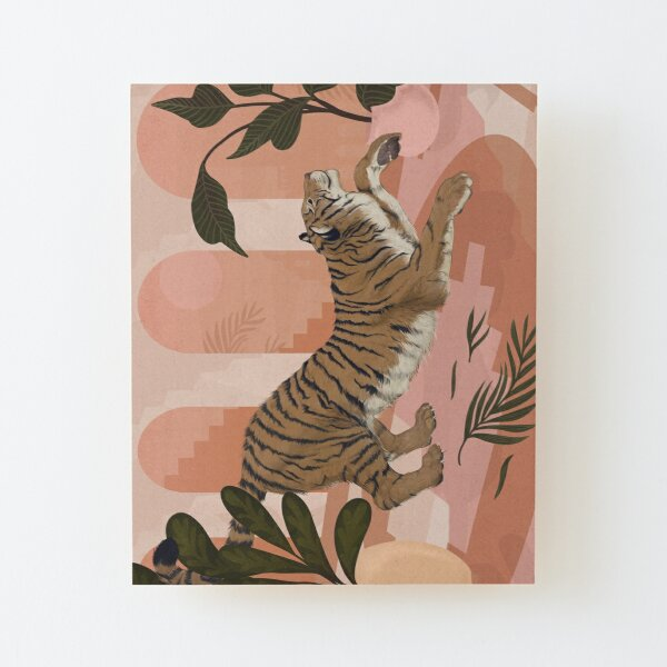Easy Tiger Wood Mounted Print