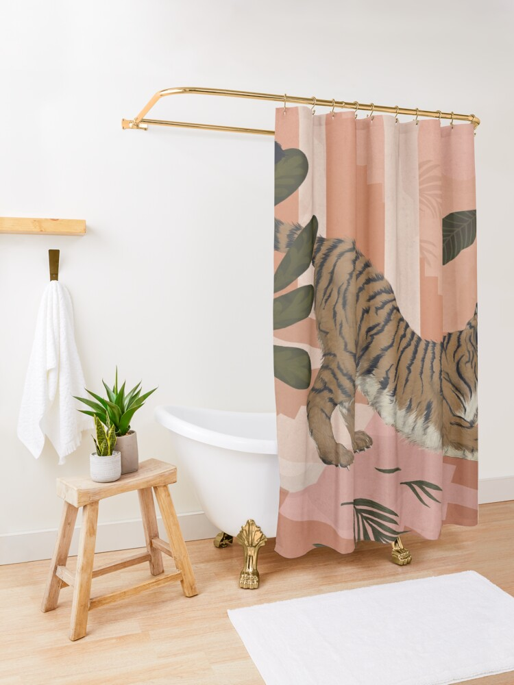 Alternate view of Easy Tiger Shower Curtain
