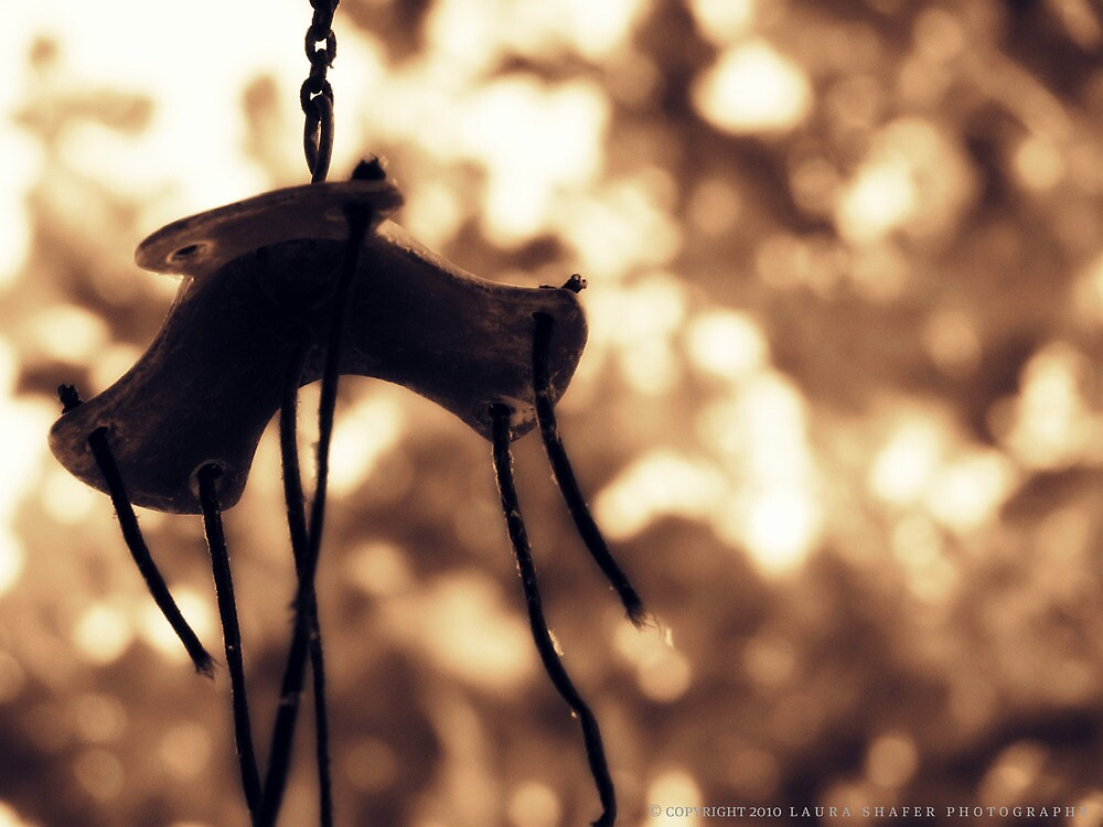 WEATHERED WINDCHIME by Laura E  Shafer