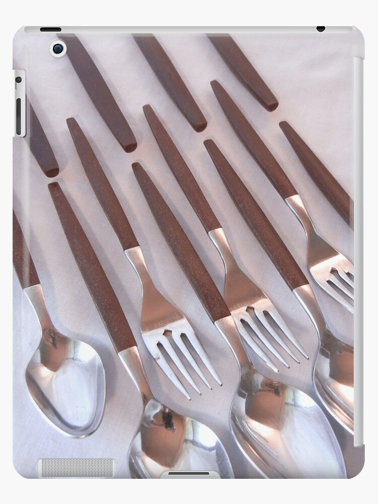 Flatware with Wood Handles by CandyApplCrafts