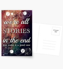 We're All Stories In The End Postcards