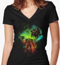 Camiseta entallada de cuello en V Bounty Hunter of Space