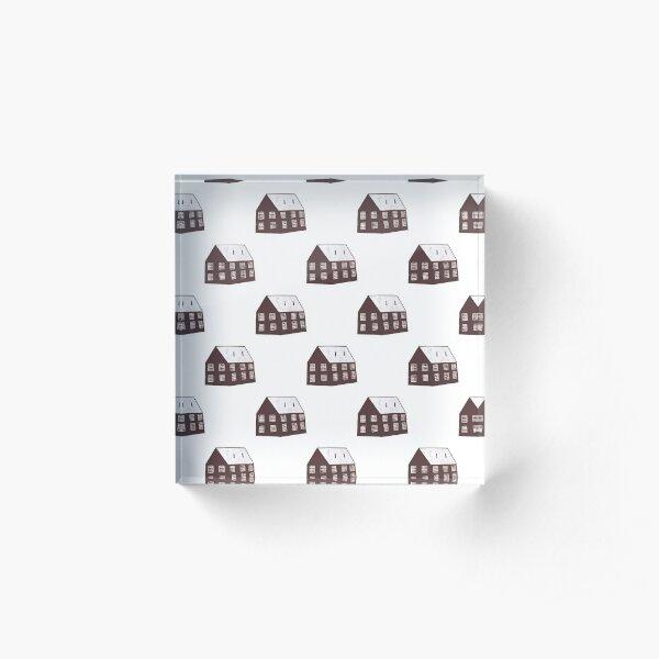 House repeat pattern Acrylic Block