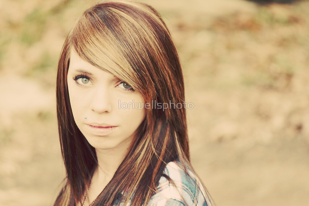 Lori Wells Photography-Model Tiffany in 70's Color  by loriwellsphoto