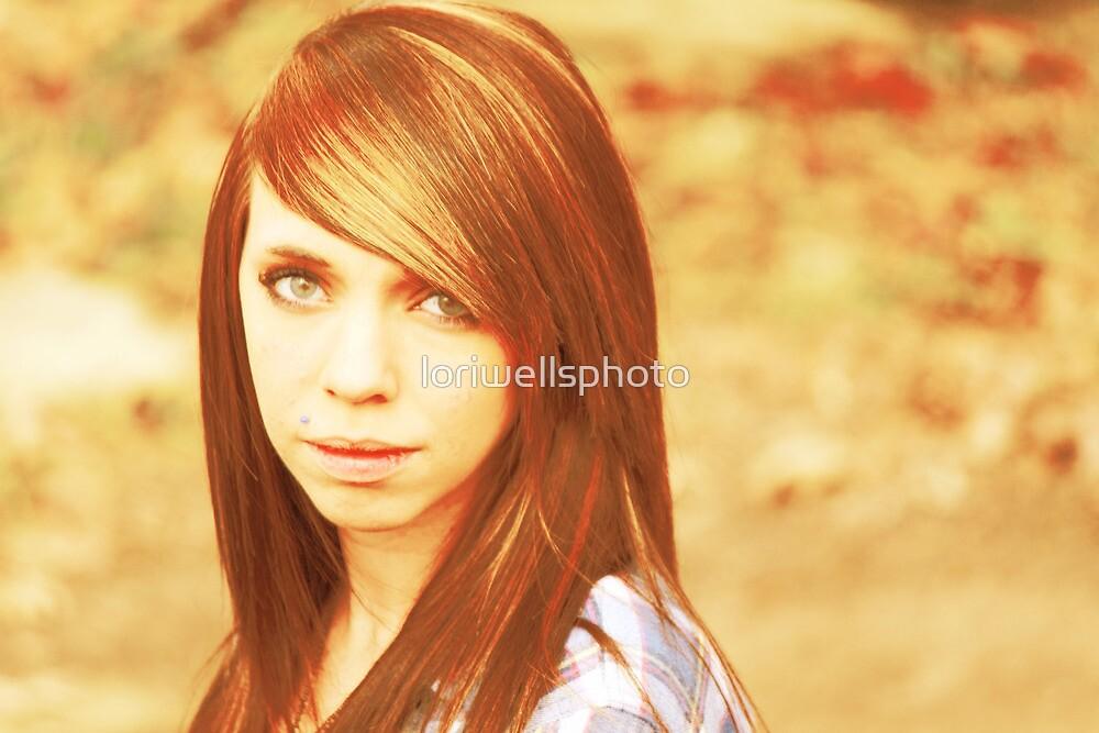 Lori Wells Photography-Model Tiffany in Warm Colors  by loriwellsphoto