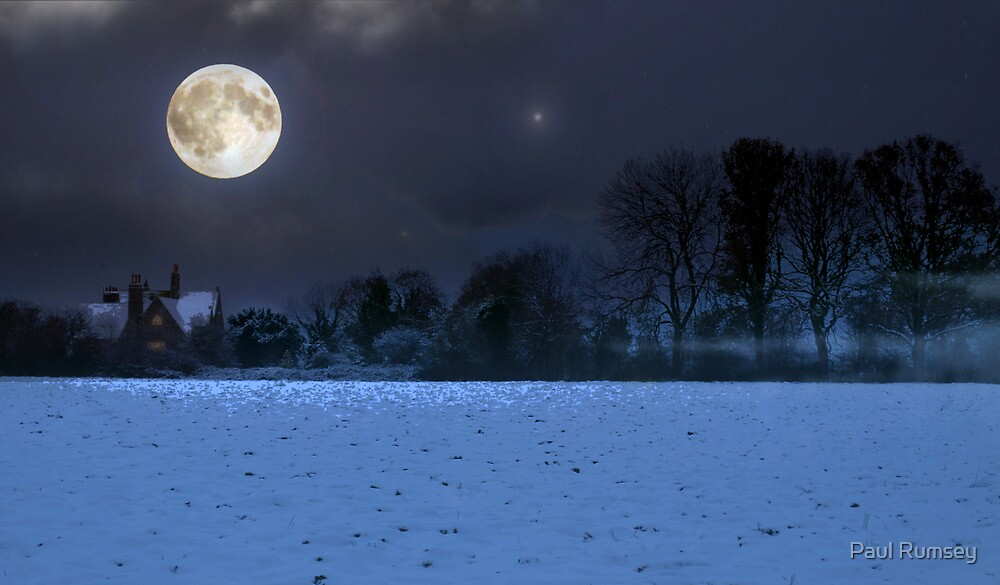 A winters night in West Sussex by Paul Rumsey