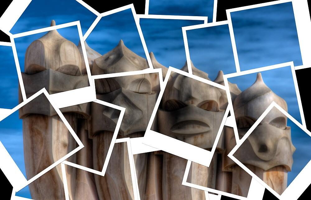 Gaudi Casa Mila Chimney Polaroids by michielmos