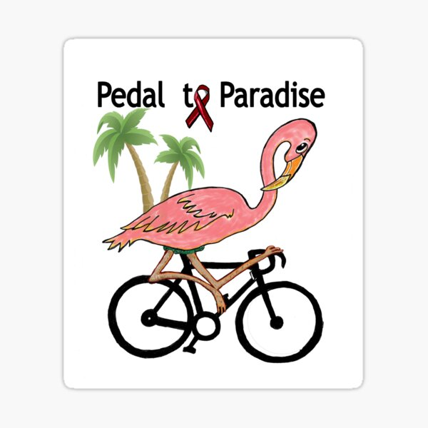 Pedal to Paradise Sticker