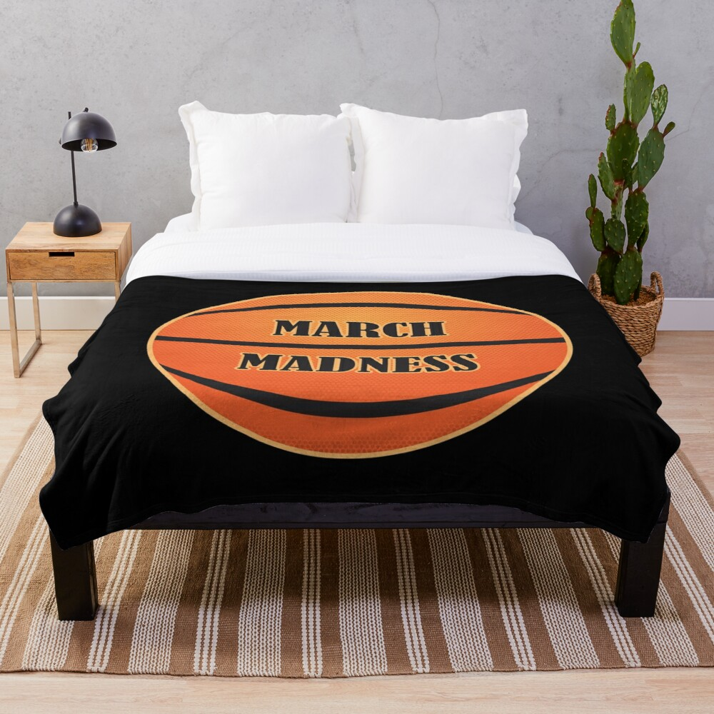March Madness Basketball Throw Blanket