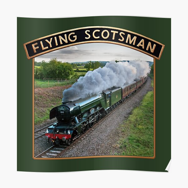 Flying Scotsman and Nameplate Poster