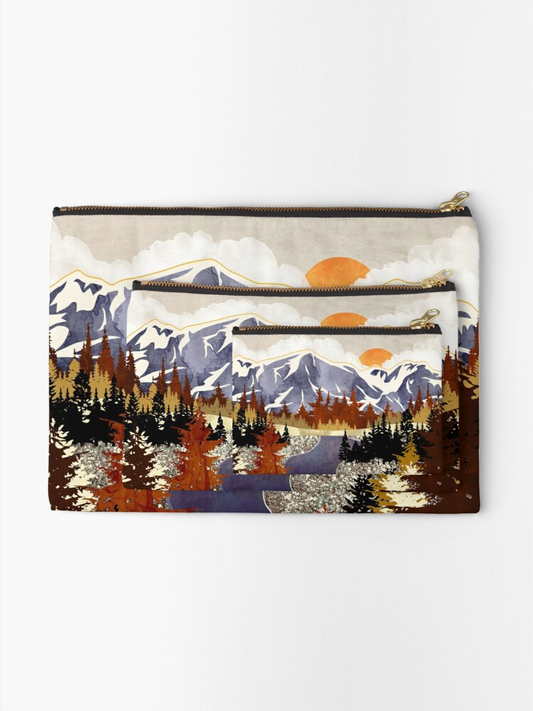 Alternate view of Autumn River Zipper Pouch