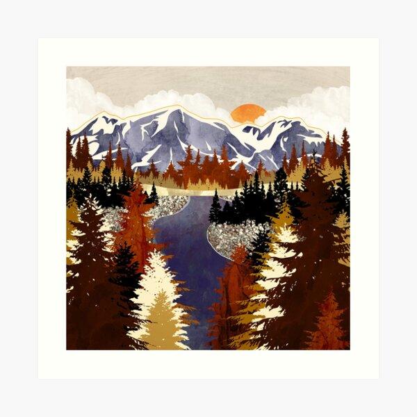 Autumn River Art Print