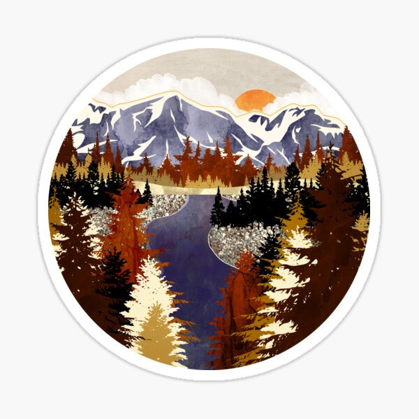 Autumn River Sticker