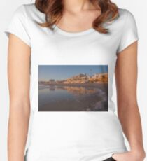 Cool Reflecting Waters of Rota, España Fitted Scoop T-Shirt