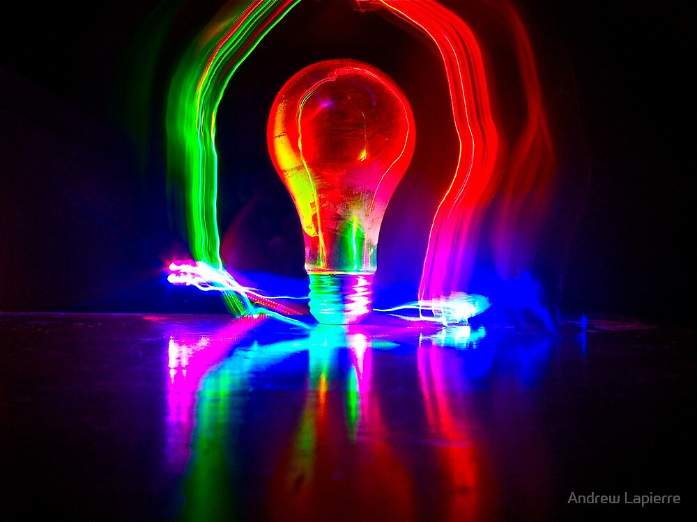 Lighting A Light Bulb by Andrew Lapierre
