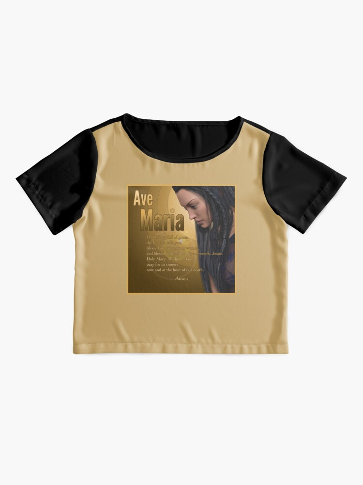 Alternate view of Hail Mary - Ave Maria - The prayer in English Chiffon Top