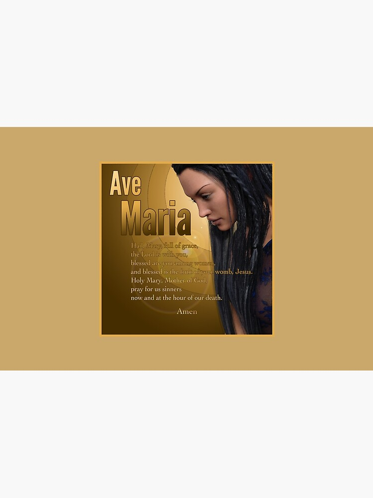 Hail Mary - Ave Maria - The prayer in English by andyrenard