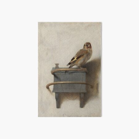 The Goldfinch (High Resolution), Carel Fabritius Art Board Print
