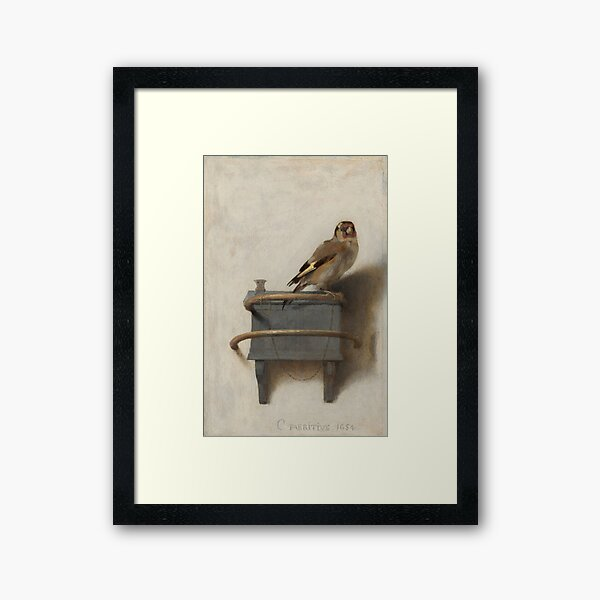 The Goldfinch (High Resolution), Carel Fabritius Framed Art Print